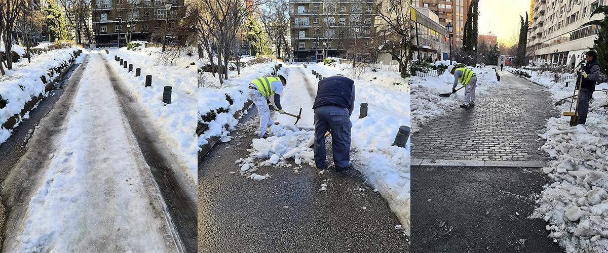 Colaboración con las Comunidades de Propietarios para la limpieza y retirada de nieve